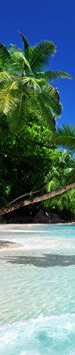 insidehome   Infrarotheizung LANDHAUS rahmenlos   Raufaser mit Bild   extra schlank   140 – 850 Watt   Motiv: Karibik hoch (400 Watt - 150 x 32 cm)