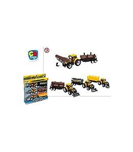 BC Footwear CB- Set 3 tractorres con Remolque 26x24cm, Color Amarillo (44416)