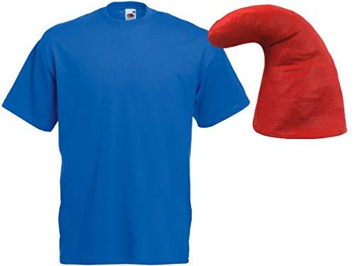 Alsino Blaues Zwergkostüm (Kv-143) mit blauem T-Shirt und roter Zwergenmütze, ()