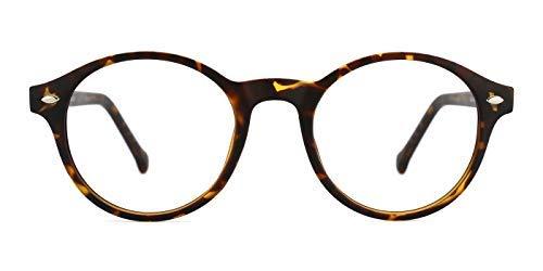 TIJN Brillengestelle Damen Herren Brillenfassung Retro Brille Ohne Stärke (Schildkröte)
