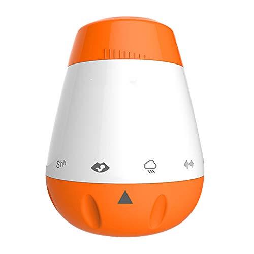 Sound-Maschine, weiße Geräusch-Maschine mit 6 Arten beruhigendem Ton, tragbares Baby-Geräusch-Spielzeug, Sound-Sensor-Funktion, einstellbare Lautstärke und wiederaufladbar ()