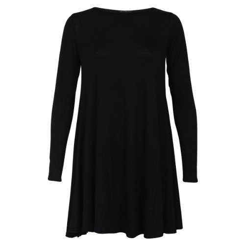 My1stWish Women's Long Sleeve Casual Dress 8 / 10 Black