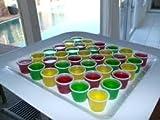 Schnapsglas, 25ml, Vodka Jelly, mit Deckeln, 50 Stück