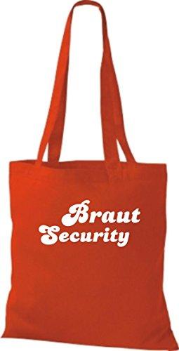 Shirtstown Stoffbeutel JGA Braut Security viele Farben rot