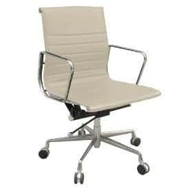 Chaise de bureau - Eames Management - Crème - Cuir de grande qualité