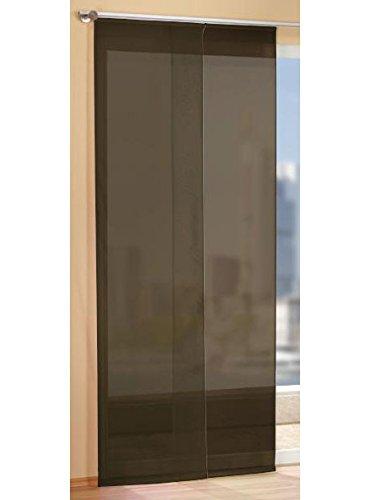 Gardinen Set, 2 x Flächenvorhang Schiebegardine mit Zubehör, Braun
