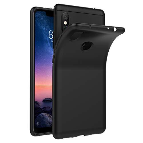 iVoler Funda Carcasa Gel Negro para Xiaomi Redmi Note 6 Pro, Ultra Fina 0,33mm, Silicona TPU de Alta Resistencia y Flexibilidad