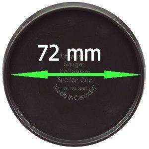 KRS - SA72 - Adapterplatte 72 mm Connector selbstklebende Platte für das Armaturenbrett für Medion Falk Becker TomTom Garmin ua.