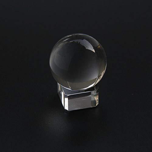 WDDqzf Ornaments Adornos Escultura Figurilla Estatuas Ornamentos Bola De Cristal De 60 Mm Cristal Artificial Curación Bola De Cristal Esfera Decoración Estilo Chino Feng Shui Decoración Fotografía Pro