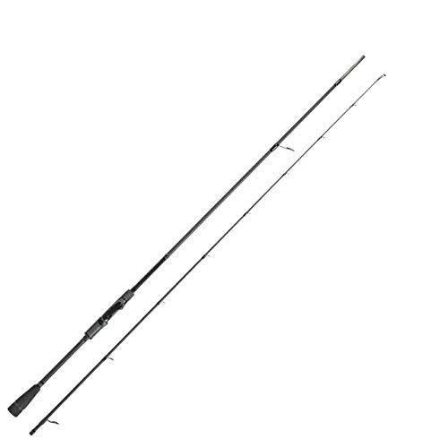 Zeck All Black 2,13m 20g - Spinnrute zum leichten Spinnfischen auf Barsche & Forellen, Angelrute zum Barschangeln, Jigrute