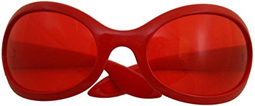 KARNEVALS-GIGANT Rote Brille 60er Jahre für Damen | Gläser in rot | für Karneval oder Fasching...
