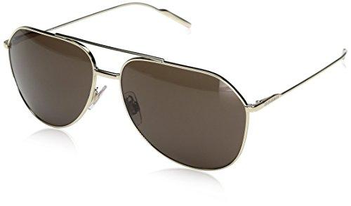 2cf59708de16 Dolce & Gabbana Herren 0DG2166 488/73 61 Sonnenbrille, Pale Gold/Brown