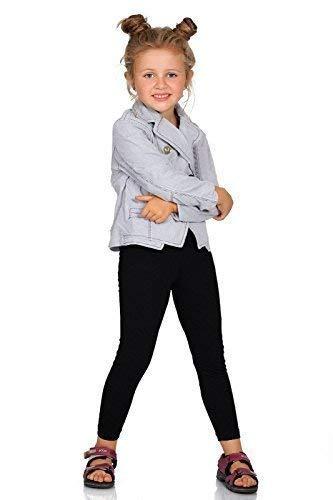 FUTURO FASHION Chaud Épais Enfants Leggings Coton Filles Pantalon Uni Longue Enfants Pantalon Âge 2 3 4 5 6 7 8 9 10 11 12 13 - Noir, 8 Ans