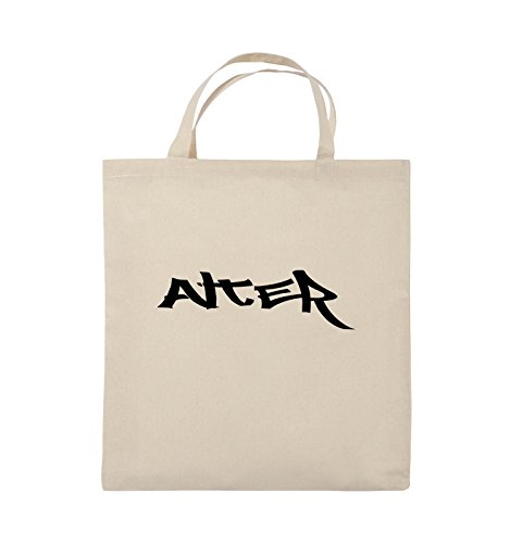Comedy Bags - ALTER - GRAFFITI - Jutebeutel - kurze Henkel - 38x42cm - Farbe: Schwarz / Pink Natural / Schwarz