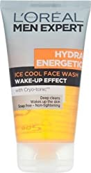 Loreal Men Experts Hydra Energetic Ice Cool Wake-Up Effect Face Wash 150 ml With Free Ayur Sunscreen 50 ml