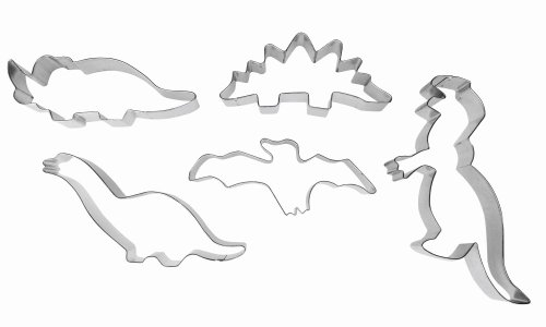 Ibili set 5 stampini per biscotti a forma di dinosauro