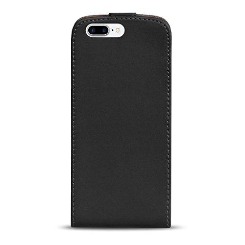 Premium Schutzhülle für - iPhone 7 Plus - Hülle Flip Case Wallet Tasche aus PU Leder Farbe: Grün Schwarz