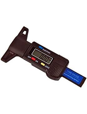 Päzisions LCD Reifen Profil Tiefenmesser Digital 0 - 25mm Messscheiber