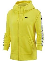 Nike Sportswear Full-Zip Hoodie Sudadera, Mujer, Amarillo (OPTI Yellow/White