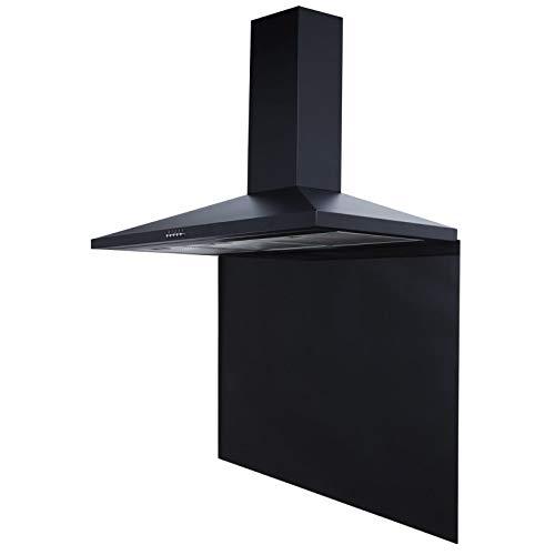 SIA SP90BL 90cm x 75cm Toughened Glass Splashback In Black