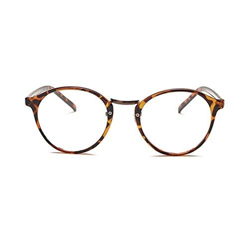 [Garantie à vie] Lunettes écaille marron de repos anti-lumière bleue anti-fatigue style retro vintage marron munies de lentilles transparentes SCT