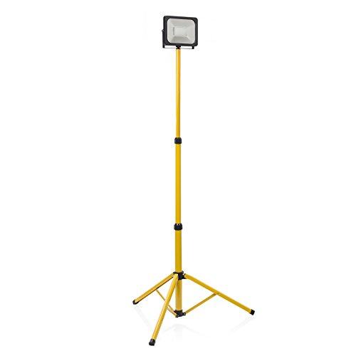 Smartwares 10.048.19 (CLT-S30-Y) Proiettore a LED su Treppiedi, Giallo