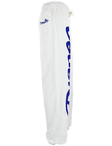 Pantalon Jogging Djaneo Rio Coton. Homme et Femme (plus de 30 couleurs disponible) Blanc et Bleu