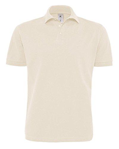 B&C Herren Poloshirt Natural