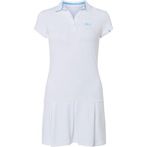 Sportkind Mädchen & Damen Tennis / Hockey / Golf Polokleid, weiss, Gr. 146 (Tennis-mädchen-kleid)