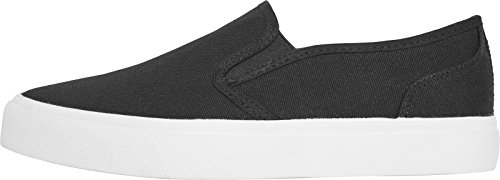 Urban Classics Unisex-Erwachsene Low Sneaker Slip on Mehrfarbig (Blk/Wht)