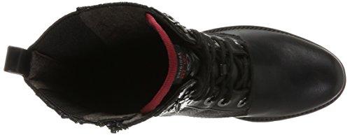 s.Oliver 25100, Stivali Combat Donna Nero (Black Bordeaux)