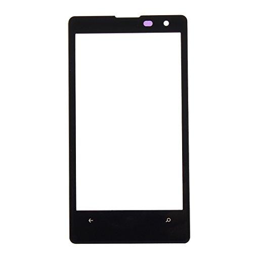 YANSHANG Parti di Ricambio per Smartphone Front Screen Lente in Vetro per Nokia Lumia 1020 (Nero) Parti di Riparazione (Colore : Black)