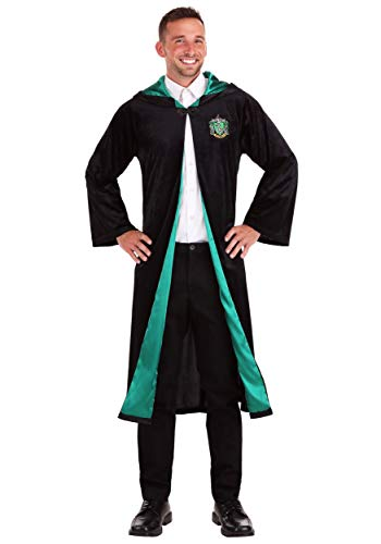 Jerry Leigh Deluxe Harry Potter Adult Plus Size Slytherin Robe - Deluxe Harry Potter Slytherin Kostüm