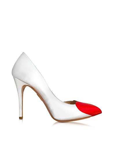 charlotte-olympia-damen-b009423106-weiss-rot-satin-pumps