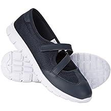 Mountain Warehouse Zapatos Ocasionales de Las Mujeres - Zapatos del Verano de Las Señoras de Breathable, Footbed Moldeado, EVA Footbed, Guarnición del Velcro
