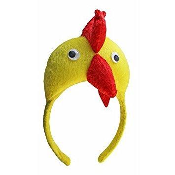 Masken Kostüm Maskenball Und - Huhn Hahn Kopfband - SODIAL(R)3D Huhn Hahn Kopfband Tier Bauernhof Erwachsene Kinder Maske Kostuem Maskenball
