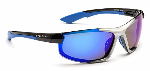 a2a354ba9b6 Eyelevel maritime Lunettes de soleil polarisées Bleu Miroir Cat-3 UV400  Lentilles