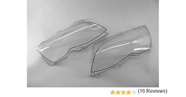SP-Auto Copertura in plastica per fari Anteriori Coppia per BMW E46 02-06 4-Porte