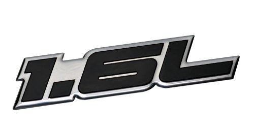 1.6L Liter Embossed BLACK on Highly Polished Silver Real Aluminum Auto Emblem Badge Nameplate for Chevrolet Aveo Aveo5 LS LT Sedan Coupe Tracker Nova Suzuki Sidekick Alfa Romeo Giulia Sprint Duetto 1600 Mazda Miata MX5 MX-5 Convertible 2 Door Prot\xe9g\xe9 323 Volkswagen VW Super Beetle Jetta Sedan Convertible Karmann Ghia Rabbit Audi Fox Daewoo Lanos Toyota Celica Corolla MR2 Mitsubishi Mirage - Super Beetle Sedan