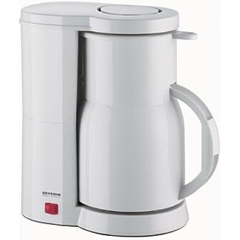 Severin KA 9243 Kaffeeautomat, weiß / bis 8 Tassen / 800 W