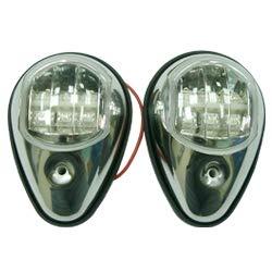 Odyssey Offshore LED-Navigationslichter, Edelstahl, seitlich montiert, 1 Port-Licht, 1 Steuerbord-Licht, 1 Paar