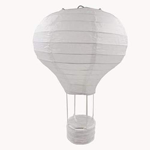inch Rainbow Wedding Chinese Paper Lantern Birthday Party Air Balloon Shape Lantern Photography Props(White) ()