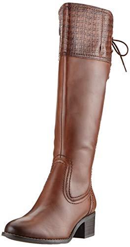Tamaris Damen 1-1-25543-23 Hohe Stiefel, Braun (Cognac Croco 333), 41 EU