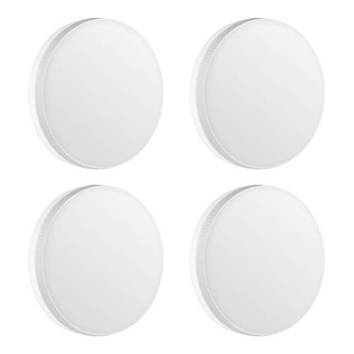 (Lot de 4) Ampoule LOHAS GX53 LED, 5W avec 600LM, 6000K Blanc Froid, Équivalent 50W incandescence, Lumière enfoncée de LED, Non dimmable, Cabinet/Salle de bain/Cuisine, Faisceau d'angle de 120 degrés