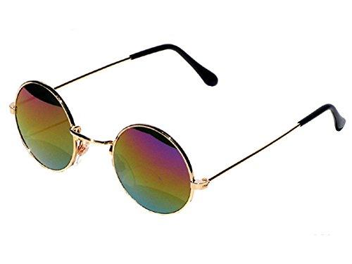 ef3e1dddb45b54 Tedd Haze 60  s John Lennon Lunettes Lunettes Or Rainbow avec étui