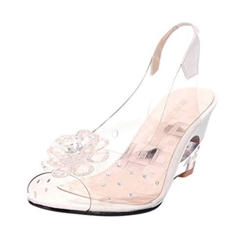 Saingace(TM)  Damen Absatz Sandalen  Sommer Süße Mode Sandalen Absatz Blume Schuhe Breathe Peeptoe Sandalen Sport Sandale für Freien Unterhaltung Freizeit Party Arbeit Hochzeit Damen Mode-mule