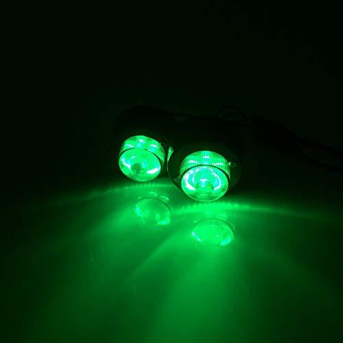 ETbotu 1 Paire 12-24 V 7 LED Camion côté Lampe Vert Avertissement Marker Clearance Light