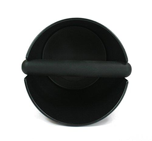Wenburg Abschlagbehälter/Knock box (15 cm), groß, für Siebträger Kaffeemaschinen. Abklopfbehälter mit gummierter Abklopfstange und rutschfestem Boden. Kaffeesatz-Behälter, schwarz - 5