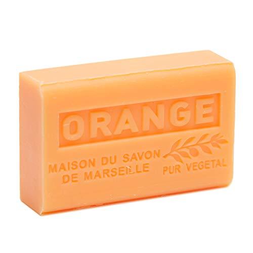 Französische Seife, traditionell, Savon de Marseille, Orange, 125 g -