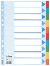 Esselte Karton-Register, blanko, A4, 10-teilig, mehrfarbig,VE=10